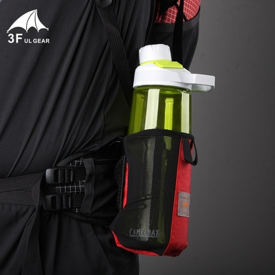 Outdoor water glass water bottle water bottle cover portable hiking backpack shoulder strap external hanging bag can let go of the walkie-talkie mobile phone