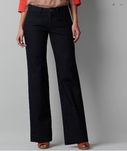 欧美外贸原单女装直筒牛仔长裤 舒适中高腰 有大码
