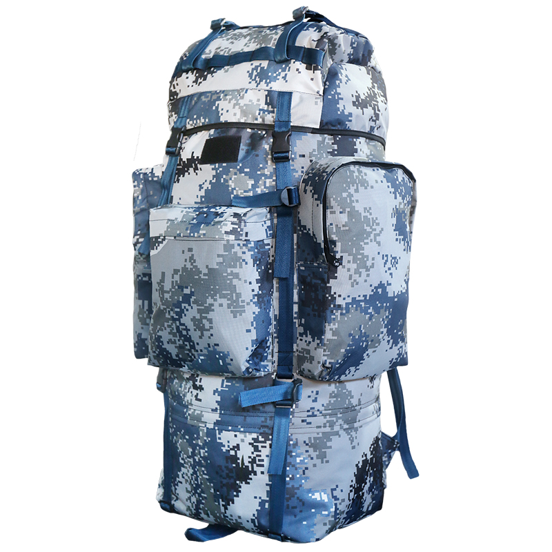 Outdoor mountaineering tour mens and womens Backpack Travel Bag Large Capacity army fan tactics camouflage individual 07 Backpack