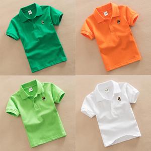 幼儿园园服 新款小学生校服儿童班服男童纯棉T恤运动服白色上衣夏