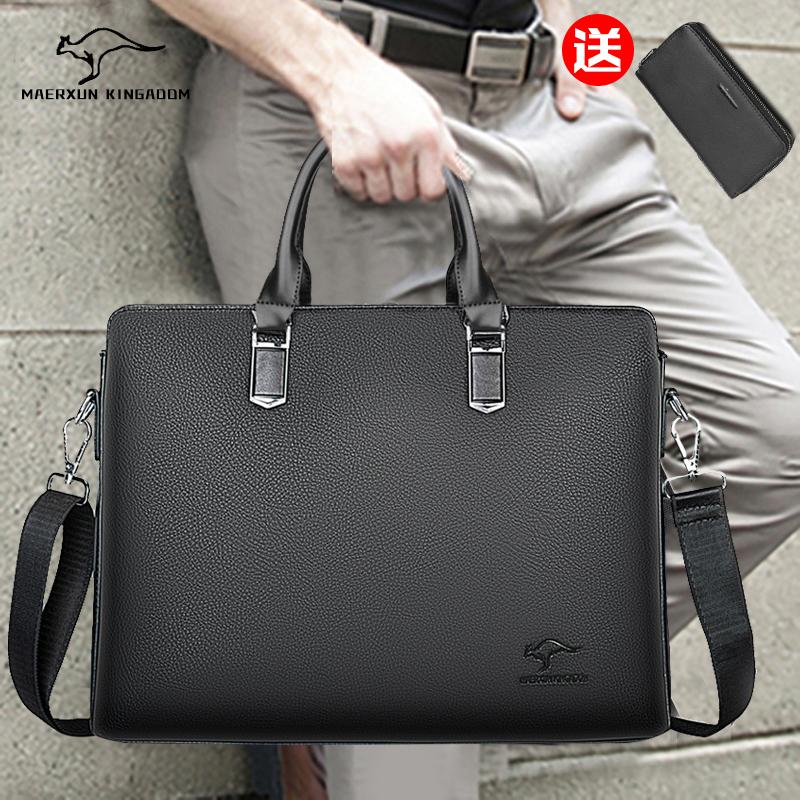 Young mens bag business briefcase large capacity one shoulder handbag 2018 new diagonal cross bag large computer bag