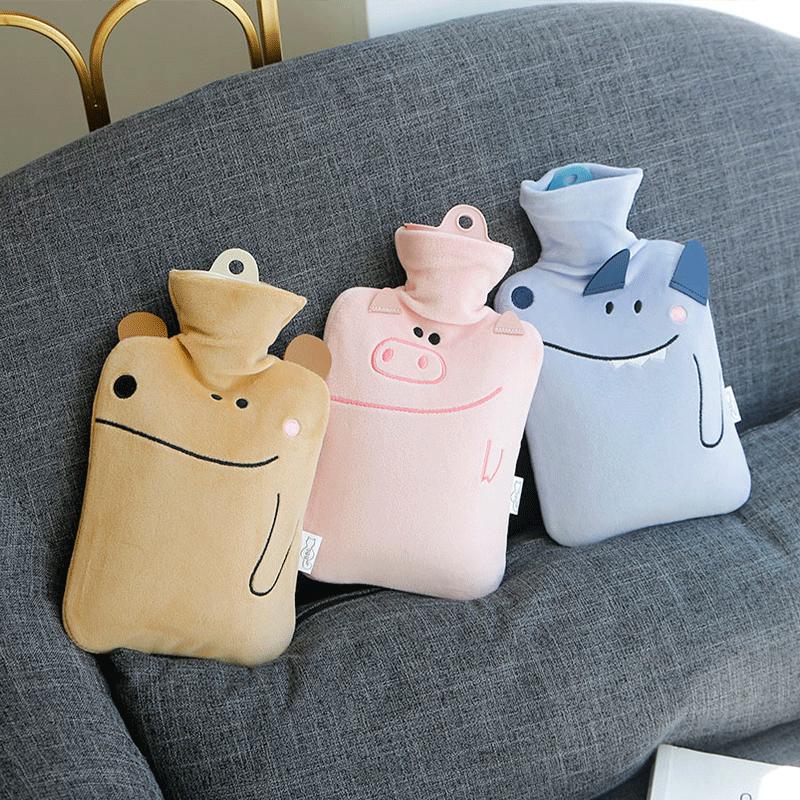 灌水热水袋女注水橡胶可爱成人暖手宝大小号随身学生冬季暖水袋