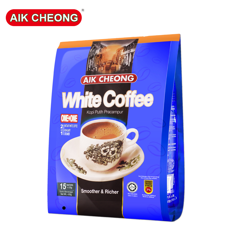 Two in one white coffee in 450g bags at Yichang old street, Malaysia