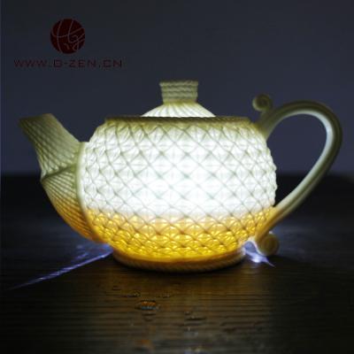 炼品牌 纯手工 竹编 茶杯 茶壶 竹篮打水 镂空 陶瓷功夫茶具 礼物