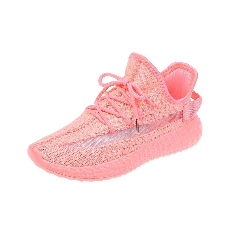 椰子鞋女2020新款彩虹色潮透气百搭运动鞋韩版街拍学生软底飞织鞋