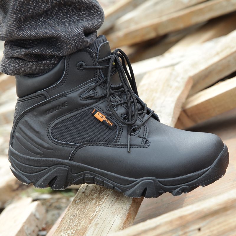 Autumn and winter outdoor army fan Boots Mens land combat boots womens super light desert boots low top tactical boots shock absorption training shoes