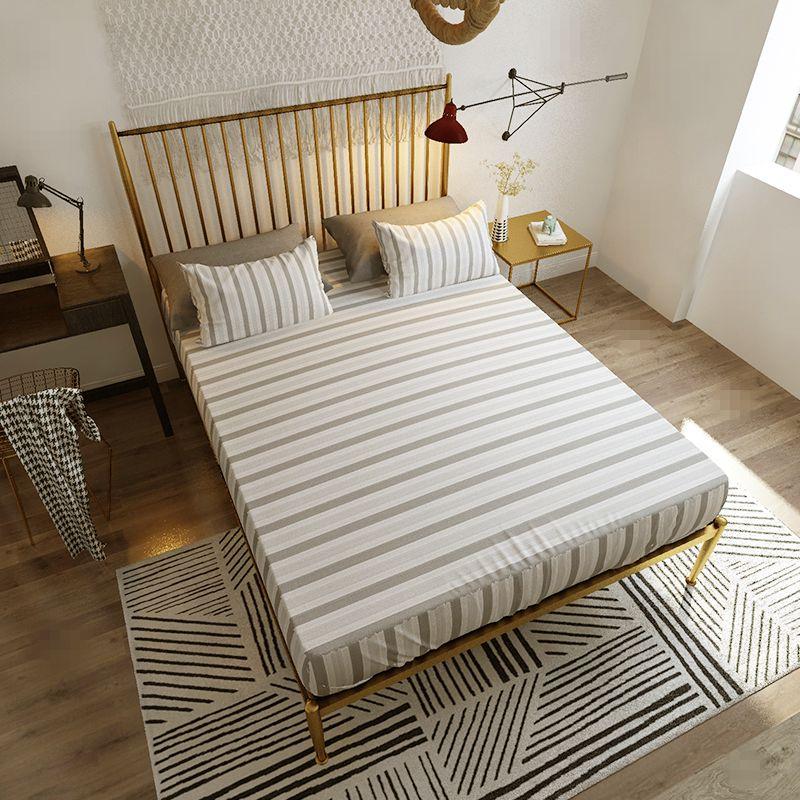 欧式铁艺床简约金色铁床架出租房单人1.8m北欧1.5米双人铁架床,可领取元淘宝优惠券