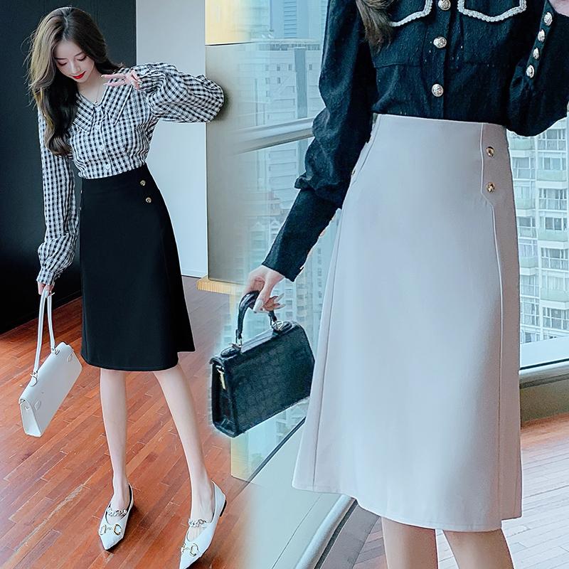 鱼尾半身裙女春夏秋冬2021新款时尚高腰不规则a字包臀裙设计感潮