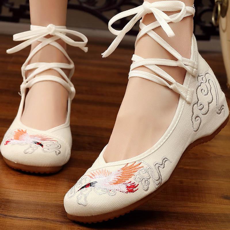 汉元素鞋子女学生古装鞋子女汉服鞋平底高跟古风百搭配汉服的鞋子