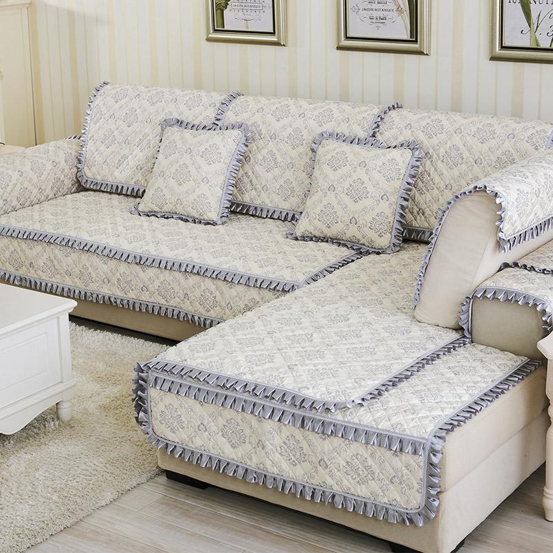 12-02新券防滑布艺沙发垫欧式四季通用防滑现代简约坐垫全包万能沙发套罩巾