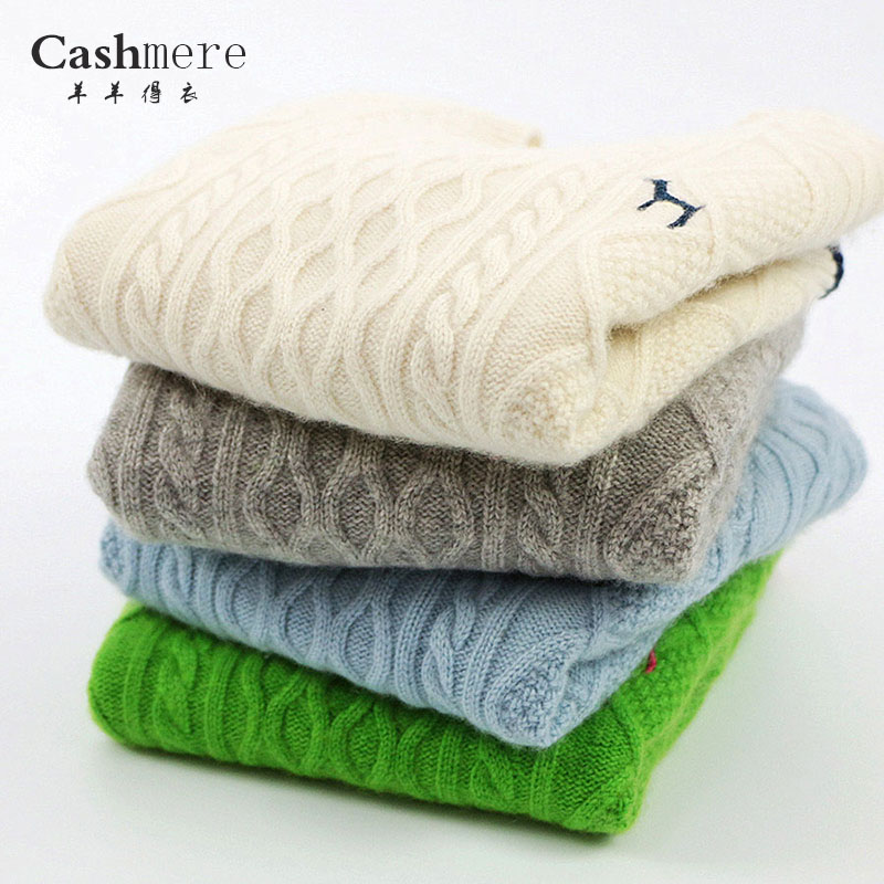 子供用純度のカシミヤのセーター、新しい男女の子供用丸首ジャケット、厚い白のセーター、赤ちゃん用のボトムシャツ