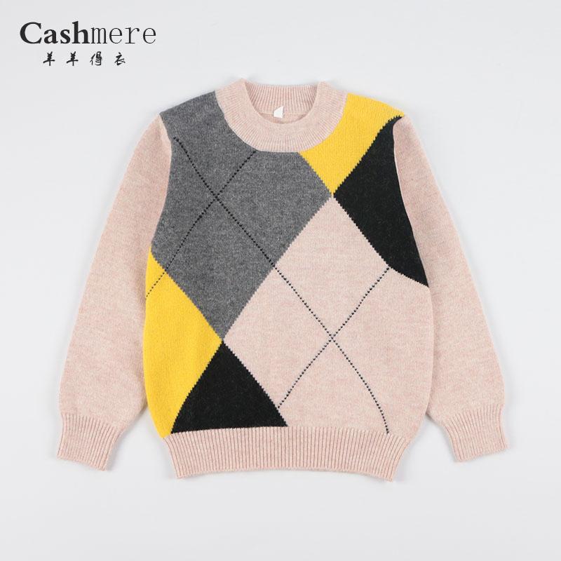 子供用カシミヤのセーター、男の子用ウールのセーター、赤ちゃん用セーター、厚手の丸首ニット、可愛いカーディガン
