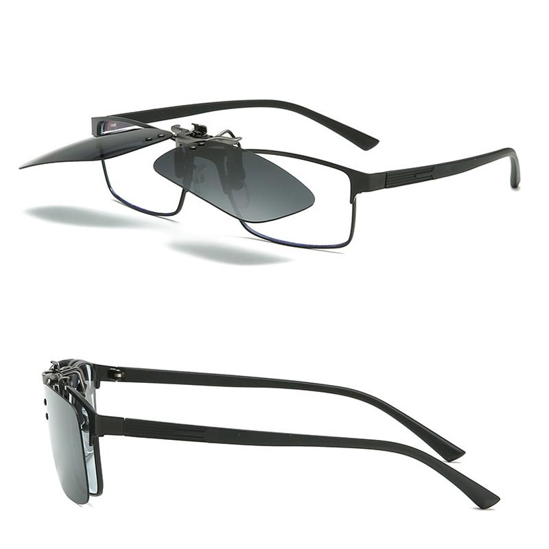 中國代購 中國批發-ibuy99 男士太阳镜 超轻偏光夹片男女司机近视墨镜开车夜视附加套镜夹在眼镜上太阳镜
