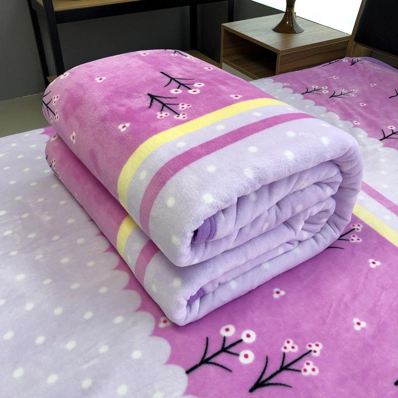简约珊瑚绒床单单件学生宿舍1.5*2m米法兰绒双人春夏单人毛毯