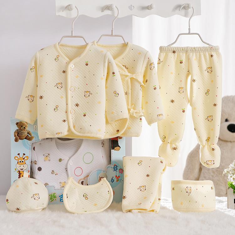 纯棉婴儿衣服宝宝衣服母婴新生儿用品秋冬季婴儿用品礼盒套装服装