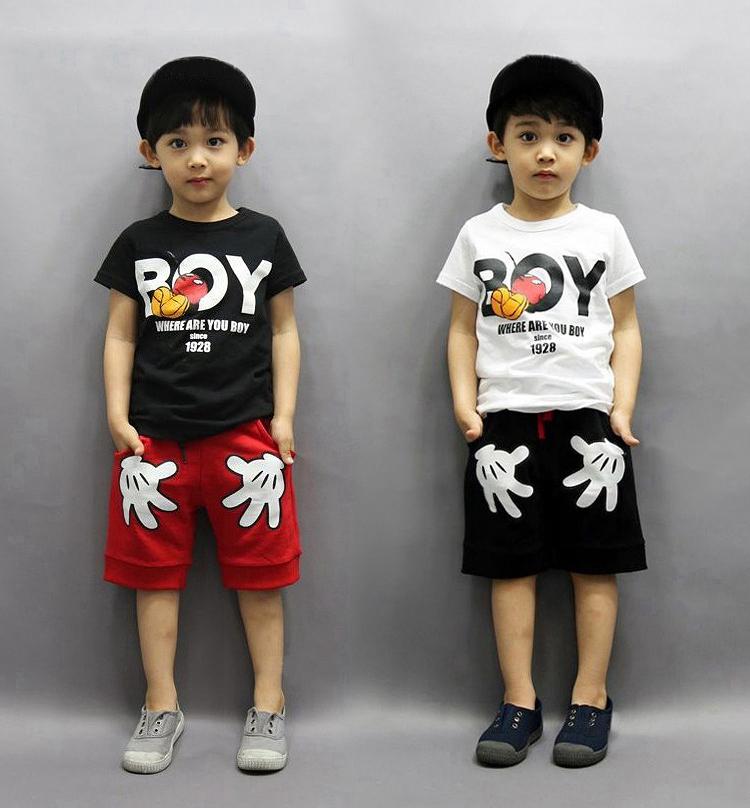 童装2儿童4短袖衣服5男童夏季套装6夏装1-3岁小孩休闲运动两件套