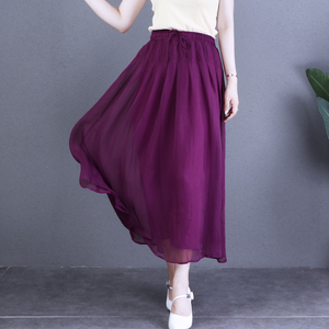 自然小铺原创设计文艺百搭薄半身裙