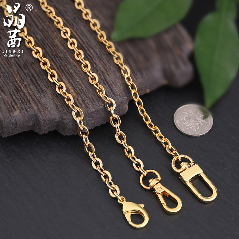 Three in one mahjong bag chain strap single selling bag gold metal chain single shoulder crossbar backpack with accessories