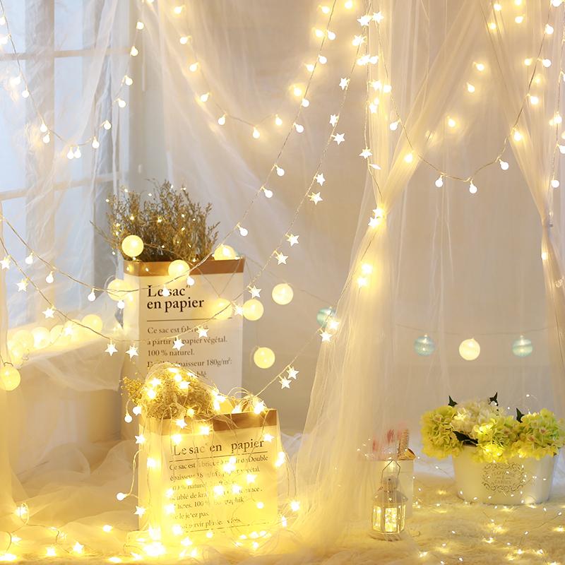 LED звезда свет фонарь вспышка строка свет в небе звезда девушка сердце комната спальня романтический комната с несколькими кроватями декоративный чистый красная лампа