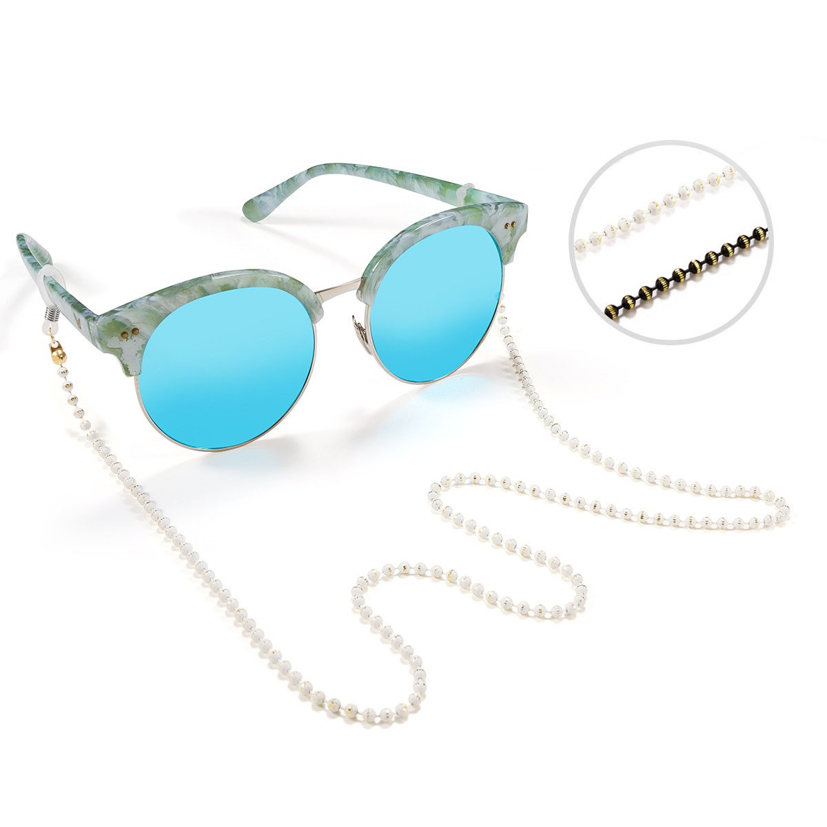 New Handmade glasses chain glasses lanyard anti slip glasses with presbyopia glasses chain glasses accessories Lolita