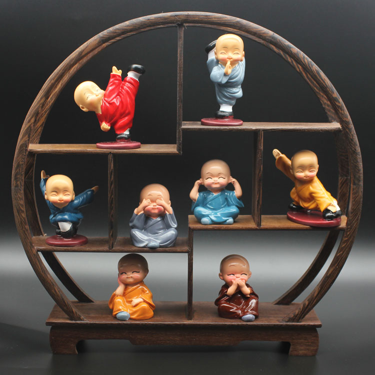 禅意小沙弥佛系佛像和尚摆件客厅办公室卧室家居装饰品工艺品摆设