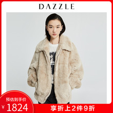 Dazzle Disu 2019 winter new plush teddy locomotive environmental protection fur coat female 2g4f4171d