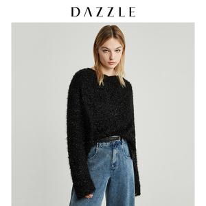 DAZZLE地素 2019冬装新款时髦闪亮节日感露背针织毛衣女2G4E4191A