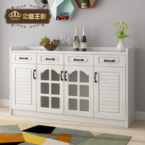 Modern simple side cabinets paint-free film storage cabinets multifunctional large capacity storage wine cupboard Restaurant Tea Cabinets