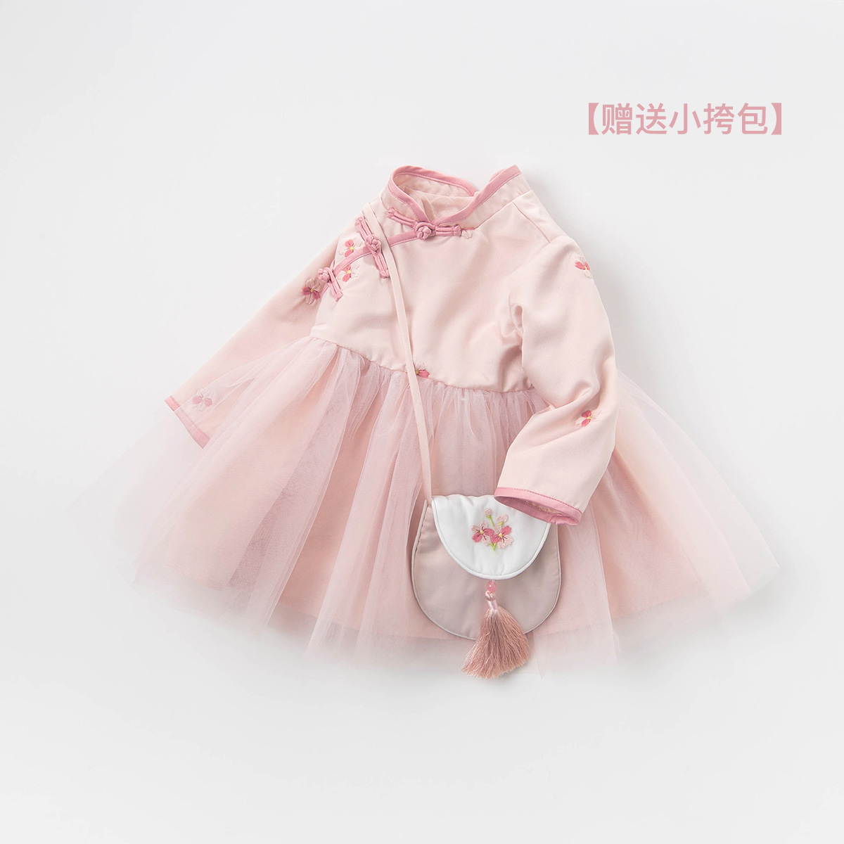 Davebella David Bella ancient girl's skirt spring new baby Chinese style Hanfu dress