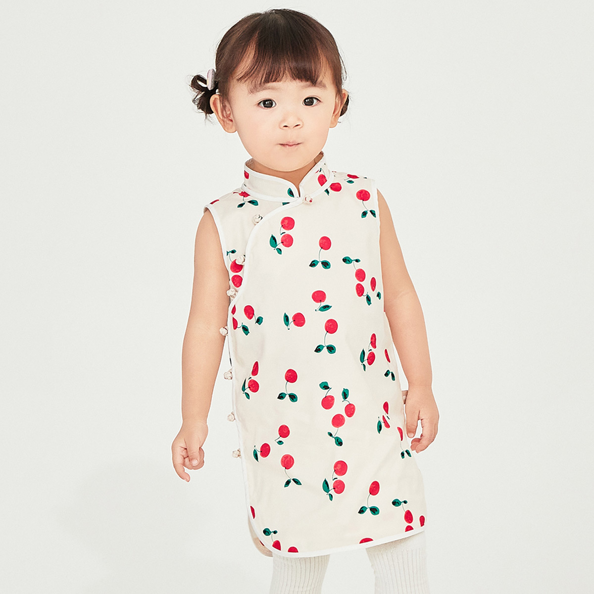 Davi Bella girl dress 2021 new summer children skirt children baby dress Hanfu cheongsam skirt