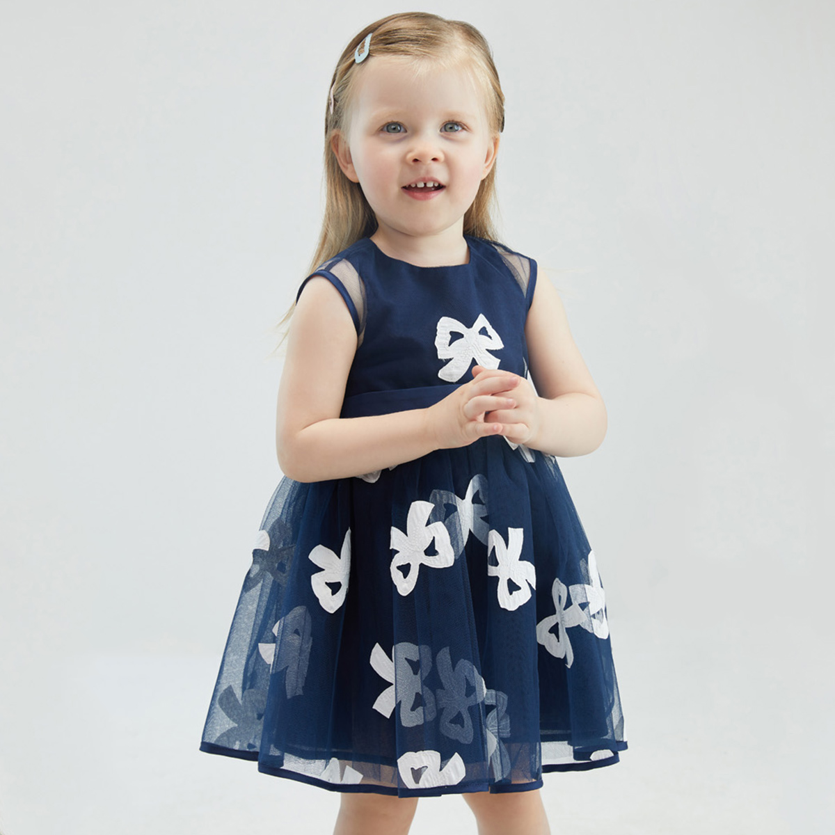 Davi Bella girl dress 2021 new summer child skirt children's clothing foreign air bowler female princess dress