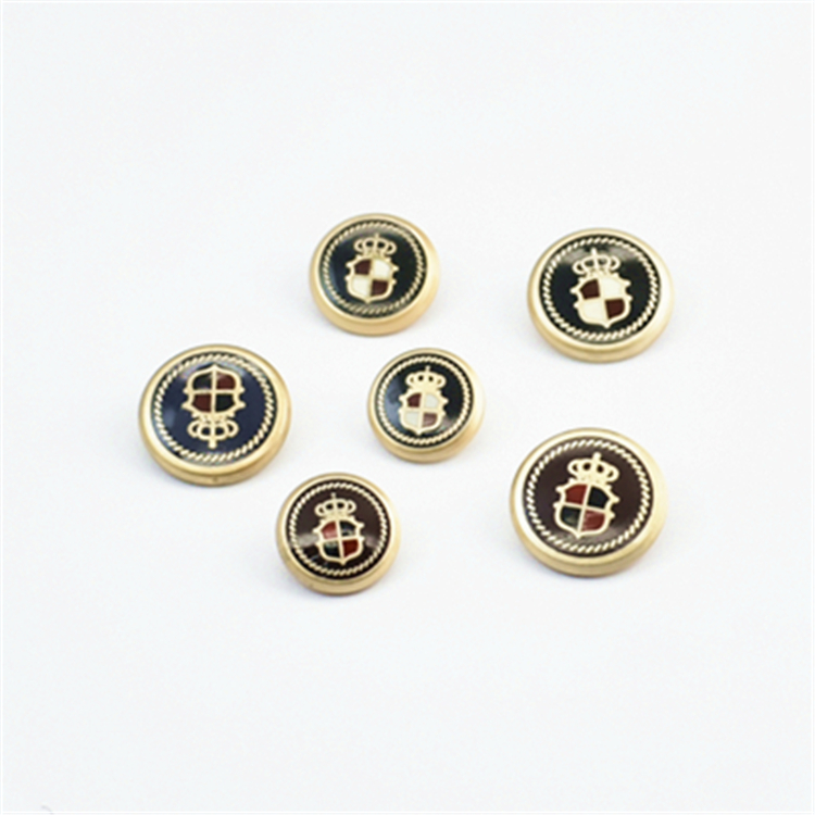 Button art button high grade fashion British crown big button suit alloy coat coat oil dripping button metal button