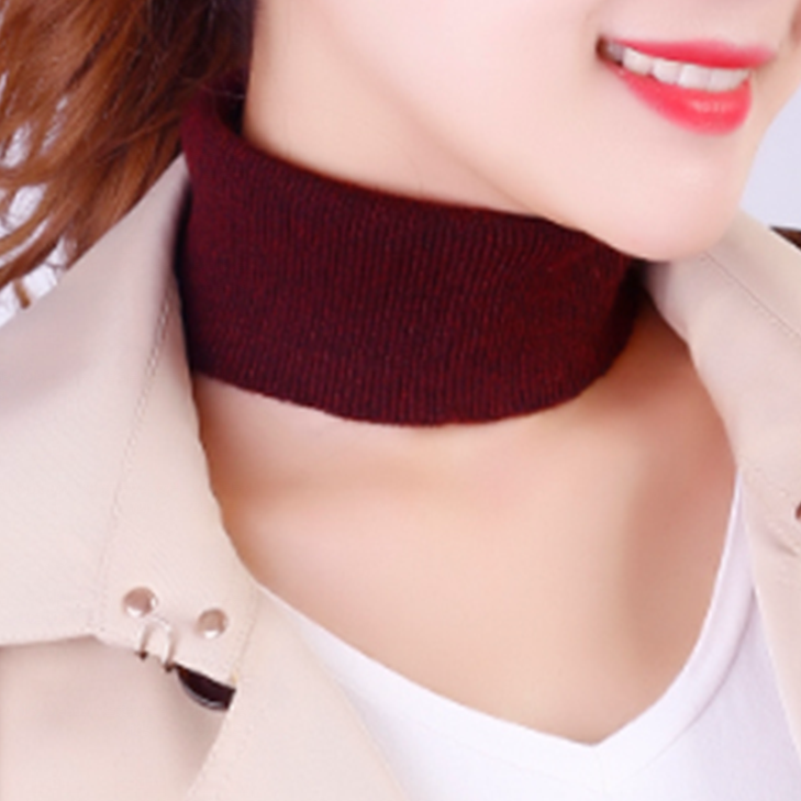 Autumn and winter new Korean version cashmere small scarf neck protection warm Bib womens Pullover knitted neck set high elastic headband hair band