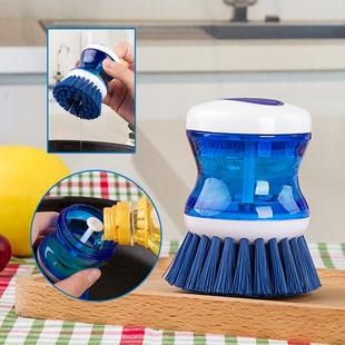 日本KM 正品 可放洗洁精清洁刷 锅刷 不沾油洗碗刷 碗碟杯刷子