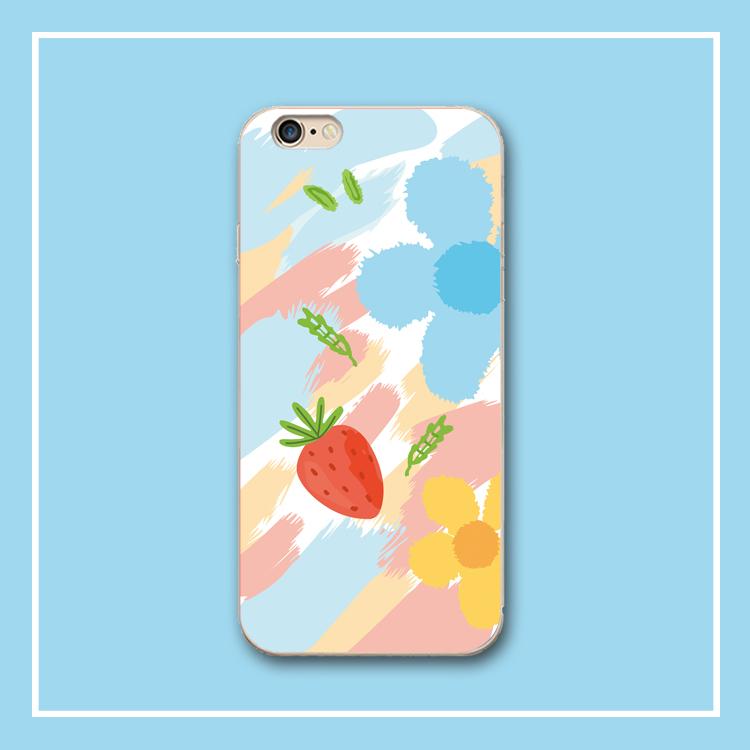 可爱草莓苹果11 iphonexr硅胶手机壳限3000张券