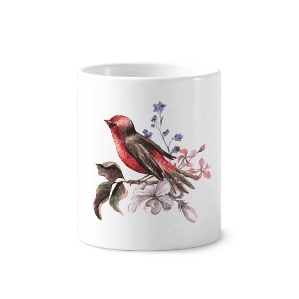 Color lead style bird ceramic brush teeth cup pen holder white mug gift school kindergarten decoration