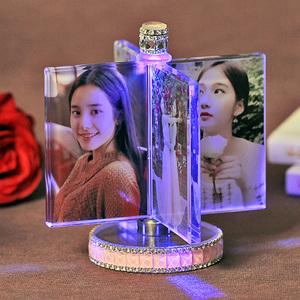 画像纪念日水晶女生新年送闺蜜旋转结婚照片定制礼物订制图片周年