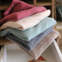 半高领羊毛衫女100 纯羊毛新款打底洋气秋冬针织毛衣套头短款羊绒