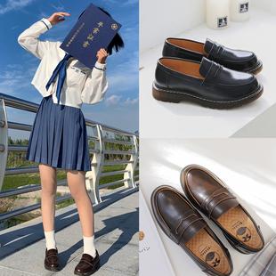 半岛鞋屋日系英伦风小皮鞋夏季薄款学院JK鞋子中跟制服鞋乐福鞋女