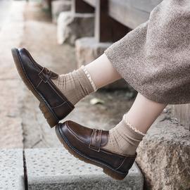 半岛的鞋屋日系小皮鞋学院风JK鞋子中跟制服鞋英伦乐福鞋女夏百搭