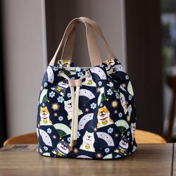 学生日式可爱便当包女韩版时尚防水手提袋上班带饭的饭盒袋子小号