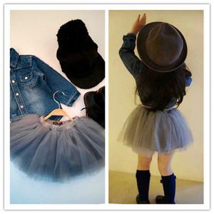 女童蓬蓬裙半身裙寶寶紗裙童裝2020秋冬韓版短裙子公主裙黑灰包郵