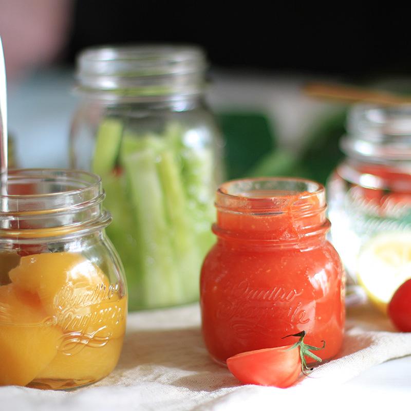 意大利进口耐热燕窝分装无铅玻璃瓶子辣椒酱蜂蜜果酱密封罐密封瓶