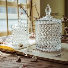 カバーガラスのキャンディーの瓶ドライフルーツの瓶スナック缶のストレージ缶ティーキャディー宝石箱の家の装飾を持つフランスの救済