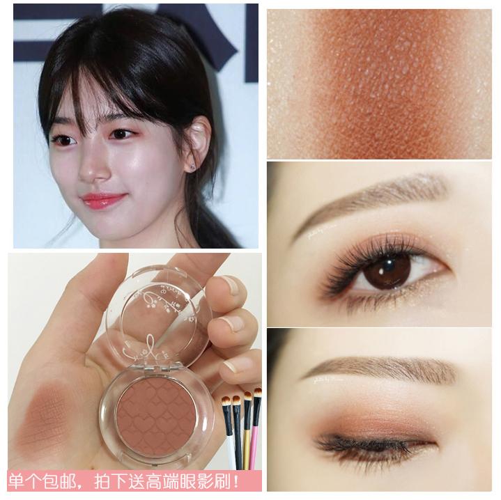 韩国爱丽小屋/伊蒂之屋单色眼影BR422松果秀智色PK004枣粉豆沙色图片
