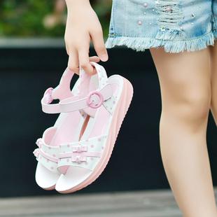 女童2019夏季新款公主真皮沙滩鞋