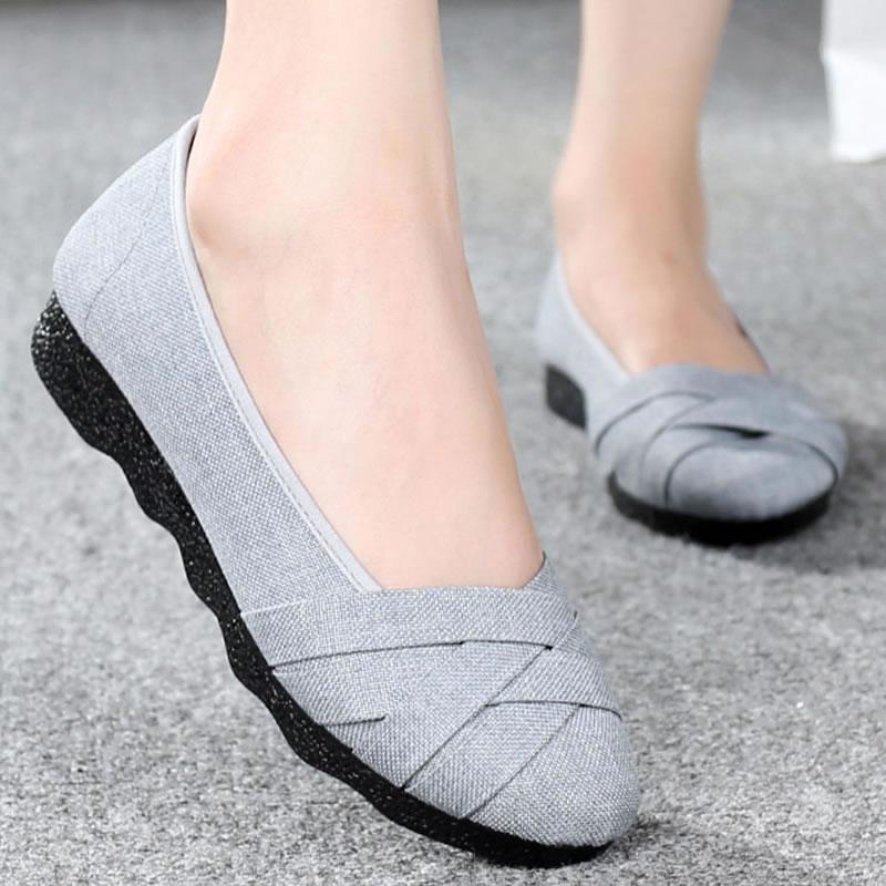 女士女装妈妈鞋大码41-43春秋季老北京布鞋女 鞋子新款鞋大号女鞋