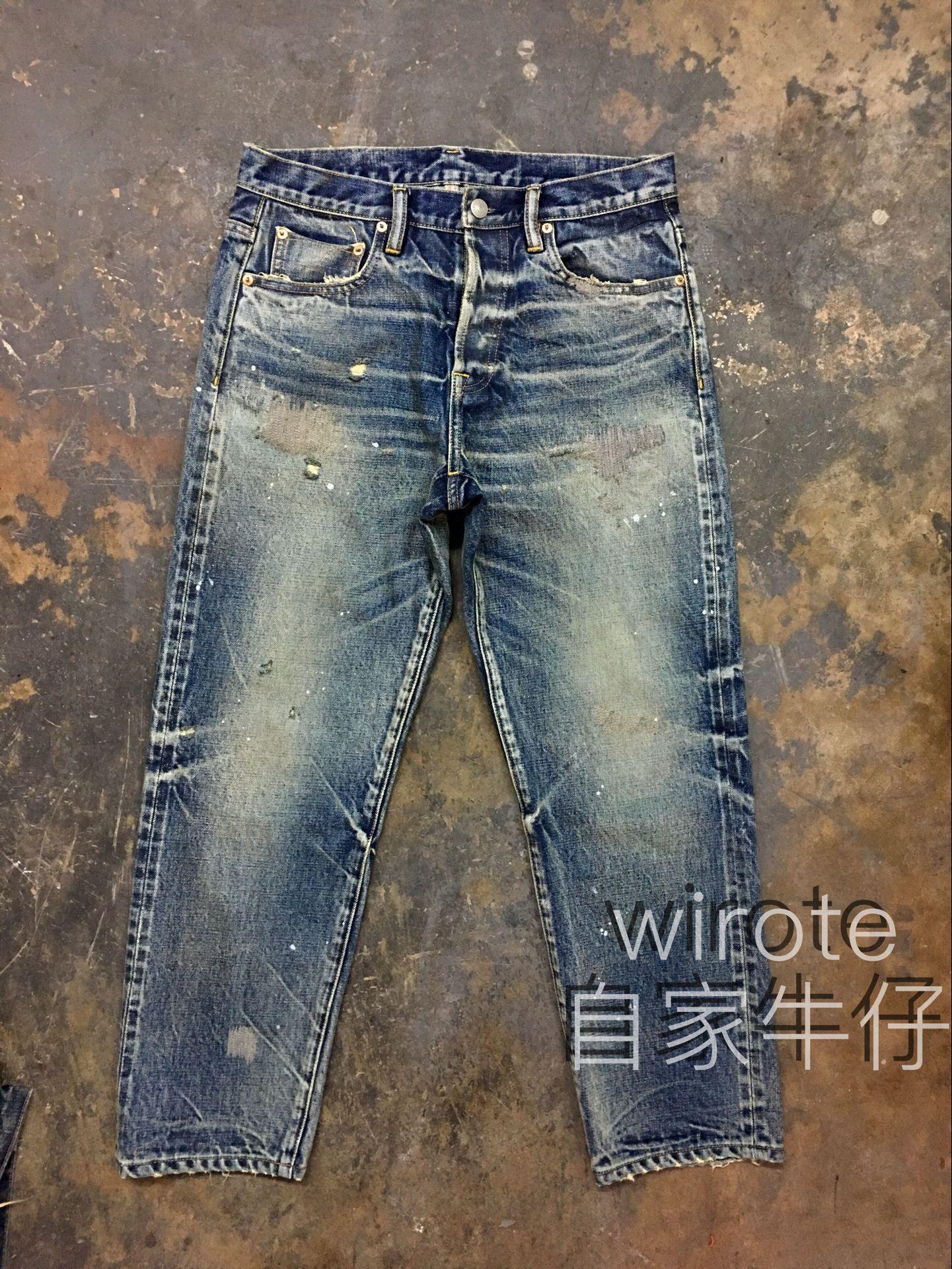 WIROTE/威洛 自家牛仔九分赤耳牛仔褲 MADNESS 四周年  18ss