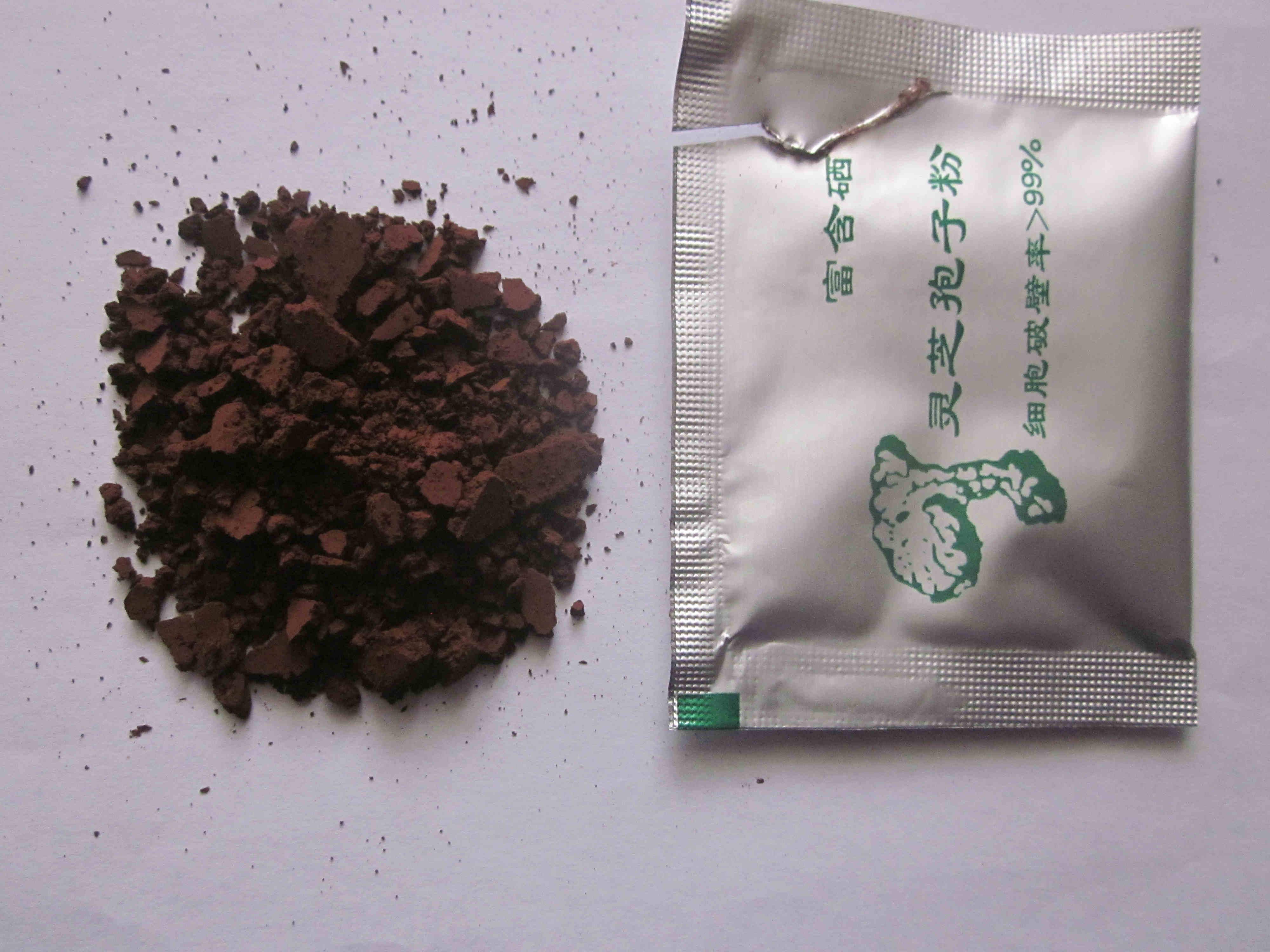 Богатые содержит Порошок полисахаридов Selenium Ganoderma Spore высокая оригинал Dabie Mountains Ganoderma Lucidum Spore Powder 102g бесплатная доставка по китаю