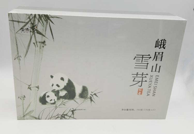 四川特�a茶�~蜀��峨眉山雪芽150g�G茶�Y盒成都茶�~�Y盒